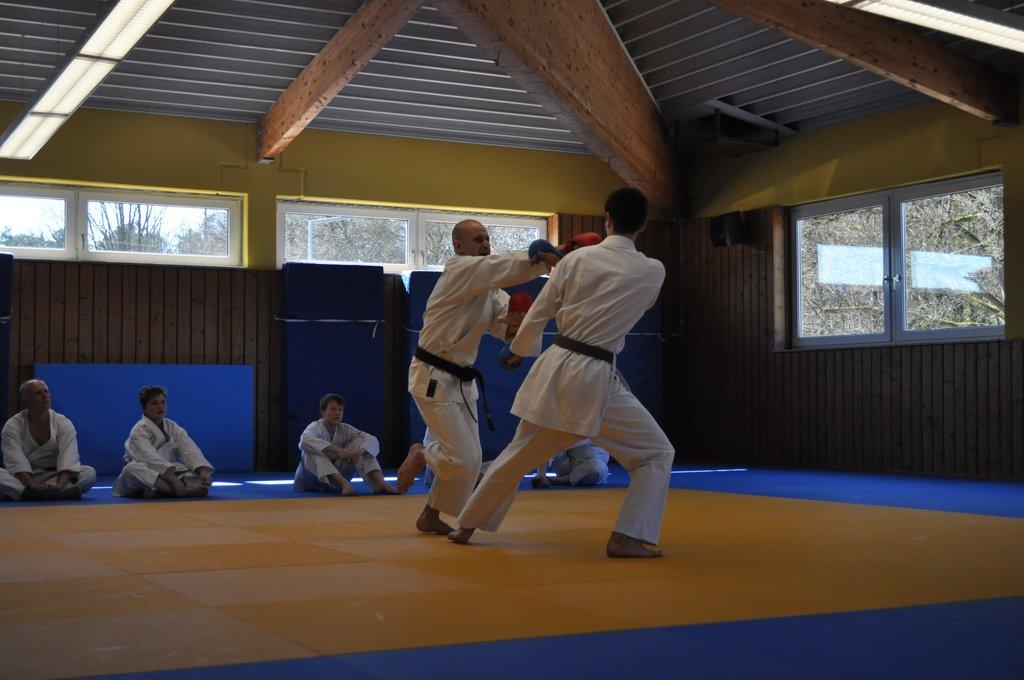 Tobias Klieber weicht Angriff beim Kumite aus