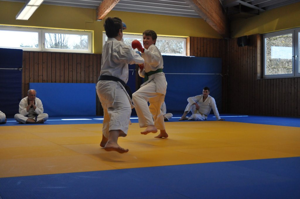Freikampf Karate mit Finn