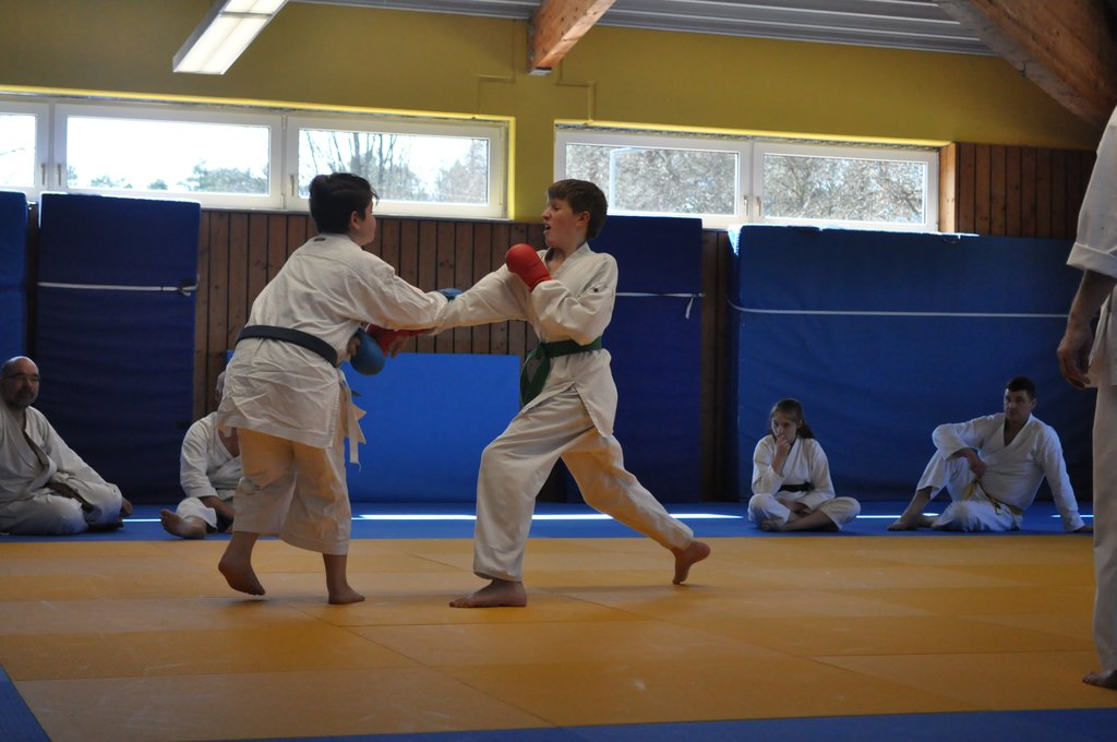 Blocktechnik beim Karate Kinder Training