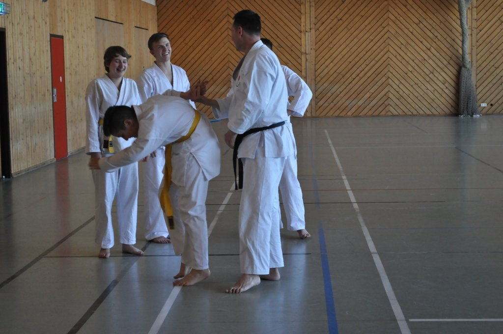 Hebelgriff beim Karate Training